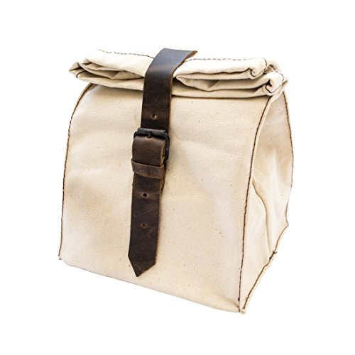 Durable Canvas All Purpose Lunch Bag Handmade by Hide & Drink (Waxed Canvas Lunch Bag compare prices)