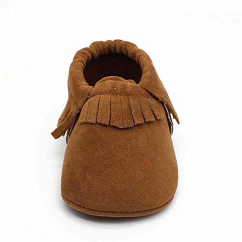 Baby Shoes Mosunx(TM) Newborn Boy Girl Baby Soft Shoes Soft Soled Non-slip Footwear Crib Shoes (4~8 Month, Khaki)