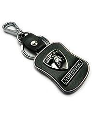 Techpro Premium Quality Leatherite Keychain With Lamborghini Design