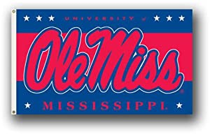 Buy NCAA Mississippi Rebels Flag with Grommets by Sportsworld