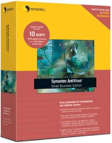 Symantec Antivirus Small Business Edition 8.1 For Workstations & Network Servers 10 User