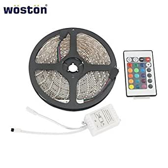 go woston wasserdicht 5m 300x3528 smd rgb led streifen mit 24 tasten fernbedienung. Black Bedroom Furniture Sets. Home Design Ideas