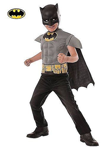Classic Batman Muscle Shirt Kids Costume Kit