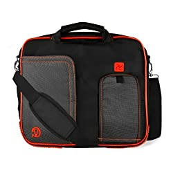 Vangoddy Fire Red Pindar Messenger Bag for Quantum View QS-1035-Z3745D / WinBook TW100 10.1 / Nextbook 10.1