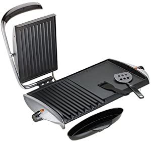 George Foreman GF20G Combo Grill/Griddle, Silver