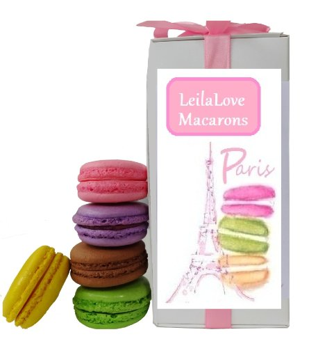 LeilaLove Macarons 8 fresh Macarons we already gift wrapped it for you