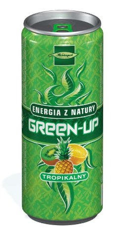 Herbapol Green Up Natural Energy Drink Tropical 250 ml (Pack of 8)
