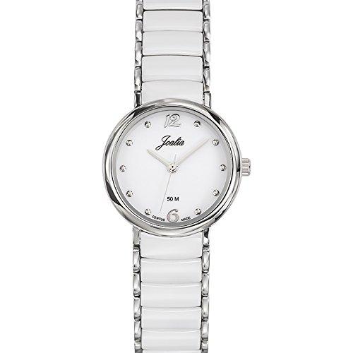 Joalia 631143 - Orologio da polso donna, acciaio inox, colore: bianco