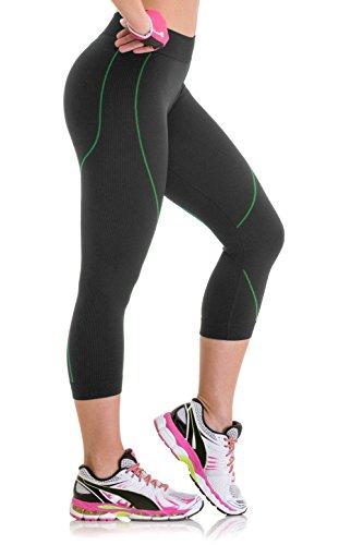 3f1f9fdde Lupo Women s Capri Workout Pants