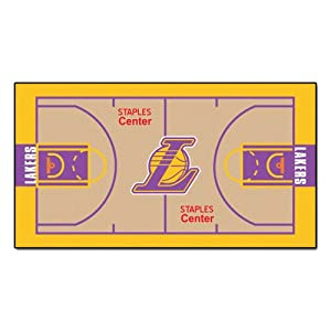Buy FANMATS NBA Los Angeles Lakers Nylon Face NBA Court Runner-Small by Fanmats