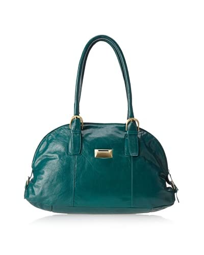 Latico Women's Taylor Coinkeeper Domed Tote, Emerald