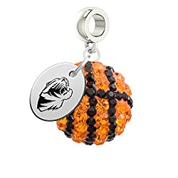 Missouri Tigers Basketball Drop Charm Fits All Pandora Style Bracelets
