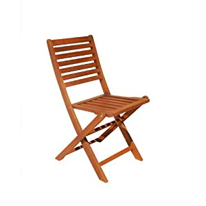 Vifah V1382E Outdoor Wood Folding Bistro Chair, 2-Pack from DROPSHIP VENDOR GROUP, LLC - DROPSHIP