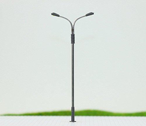 Evemodel LQS13 10pcs Model Railroad Train Lamp Post Street Lights HO OO TT Scale LEDs NEW