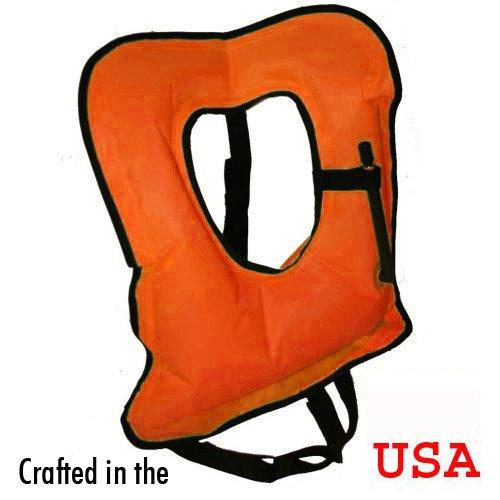 XL Orange Snorkel or Snorkeling Vest
