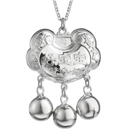 Neoglory Fashion Small Bell Necklace S925 Silver Pendant Wholesale Baby Neckwear Gift