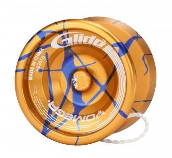 Yomega Glide Yo-Yo - With Splash Gold/Blue Finish by Yomega