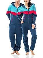 ZIPUPS Mono-Pijama Vantage (Azul / Azul Claro / Fucsia)