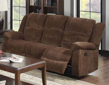 Bailey Motion Sofa in Dark Brown Fabric by Acme Furniture