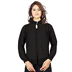 SFDS Women's Polyester Black Shirt(T-357-Extra Large)