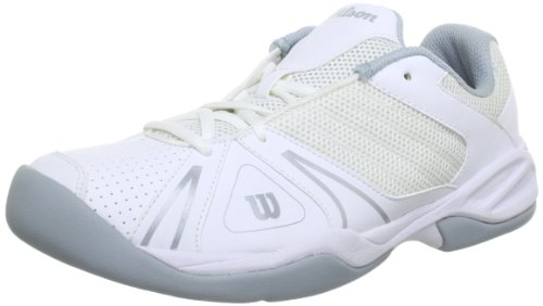 Wilson - Scarpe sportive - Tennis Open Junior, Bimbo, Bianco (Weiß (white)), 34