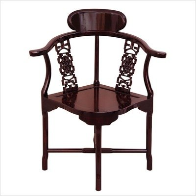 Corner Chair in Rosewood
