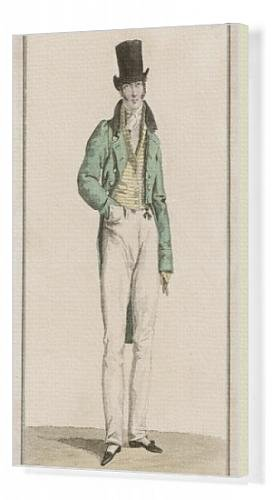 Canvas Print Of Striped Waistcoat 1816