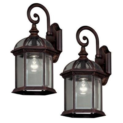 Outdoor Weathered Bronze Lantern (2-Pack) (Hampton Bay Lighting Outdoor compare prices)