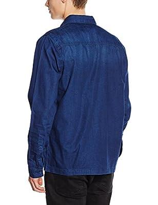 New Look Men's Indigo Denim Casual Shirt