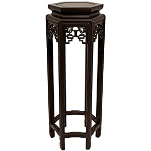 "Oriental Furniture 28"" Hexagon Plant Stand"