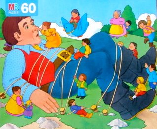 60pc. Gulliver's Travels Storybook Puzzle