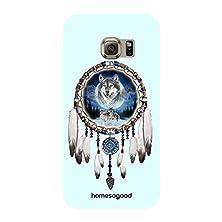 buy Homesogood Soul Of Wolf Blue 3D Mobile Case For Samsung S6 Edge ( Back Cover)