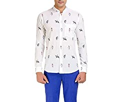 Color-Buckket Men's Casual Shirt_CB503_White_XXL
