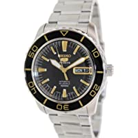 Seiko 5 Sports Automatic Black Dial Stainless Steel Men's Watch