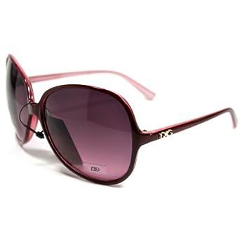 DG26 Style 5 DG Eyewear Designer Vintage Oversized Women's Sunglasses-pink