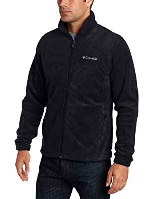 Columbia Men's Steens Mountain Full Zip 2.0 Fleece Jacket, Black, Large
