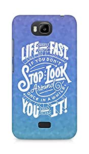 AMEZ life moves pretty fast Back Cover For Huawei Honor Bee