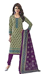 Sree Impex Women's Cotton Unstitched Dress Material (SI-CO-21_Red_Free Size)