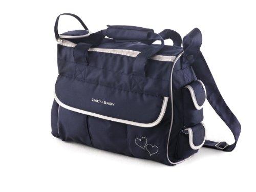 CHIC 4 BABY, Borsa fasciatoio LUXURY con accessori, Blu (Classic Line Navy)
