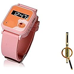 The Smallest Dual GPS GSM Position GPRS Tracker Watch MIC SOS For child kids old + Blueskysea Free Gift Gel Pen (Pink) by China Oem