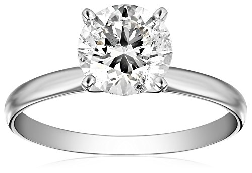IGI Certified Platinum Round-Cut Diamond Engagement Ring (2.0 cttw, H-I Color, SI1-SI2 Clarity