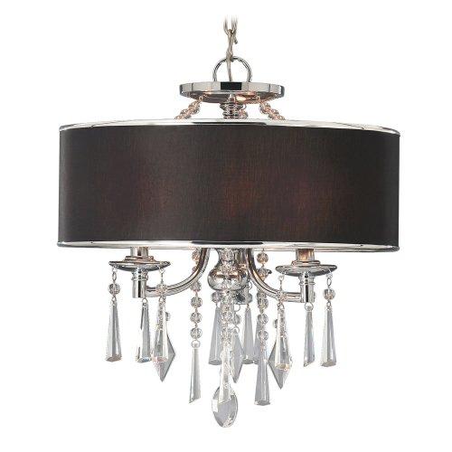 B00386ZKUS Golden Lighting 8981SFGRM  Convertible Semi Flush Mount with Black Tuxedo Shades,  Chrome Finish