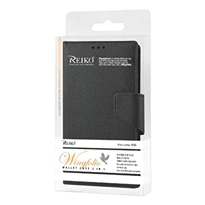 Reiko Wallet Case 3-In-1 for Nokia Lumia 1520 with Interior Leather-Like Material and Polymer Cover from Reiko