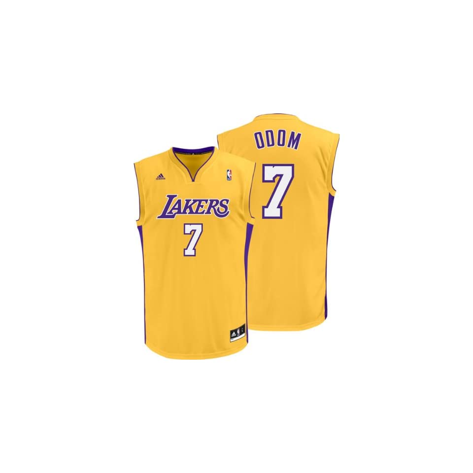 Lamar Odom Gold Adidas NBA Revolution 30 Replica Los Angeles Lakers Youth  Jersey eac351d35