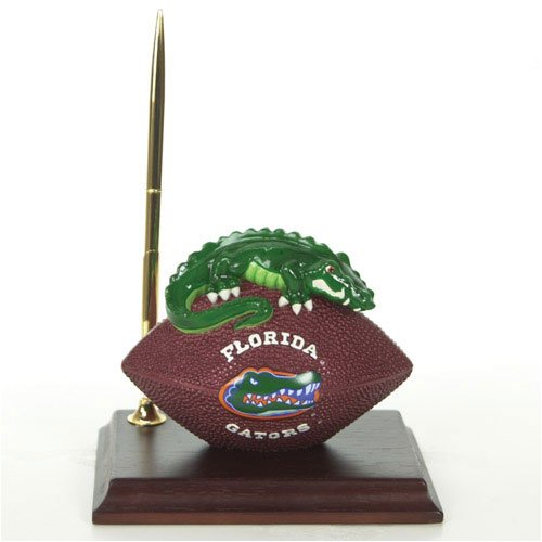 Florida Gators Mascot Football Clock/Pen