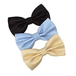 DBE0220 Find For Marriage Bow Ties Microfiber Young Fashion 3 Pack Bow Ties Set by Dan Smith