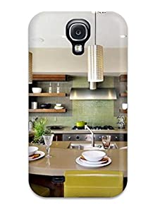curved island open cabinets amp backsplash protector for galaxy s4