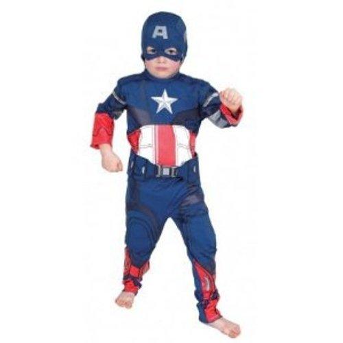 Imagen 1 de The Avengers I-881314S - Disfraz de Capitán América (talla S infantil)