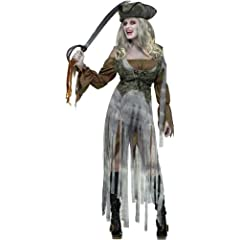 Zombie Pirate Costume for Women