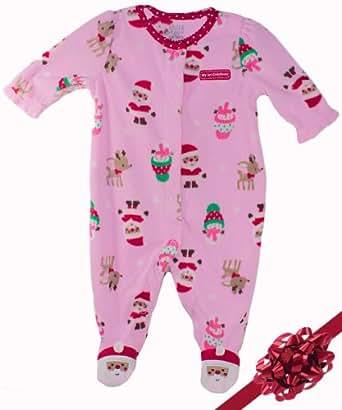 my first christmas footie pajamas